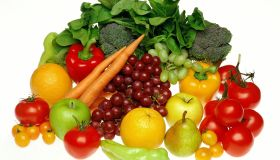Selection of fresh fruit and vegetables