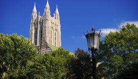 'Gasson Hall on Boston College campus in Chestnut Hill, MA'
