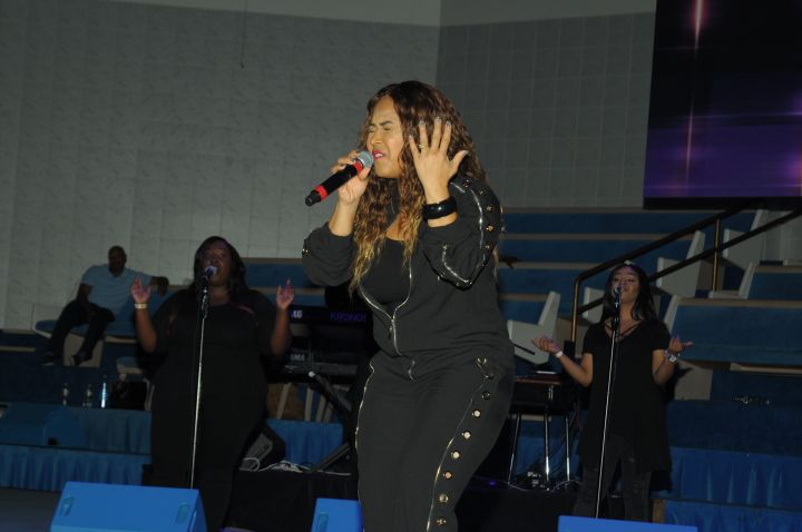 Erica & Tina Campbell Perform At The 10th Annual Spirit Of Praise