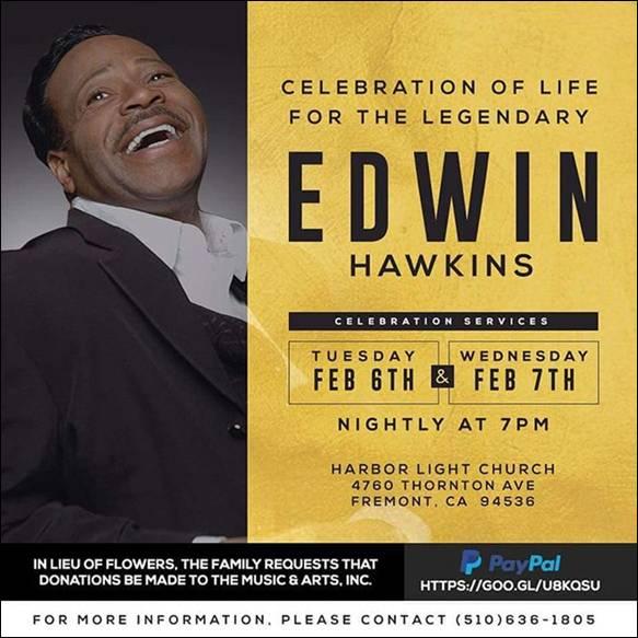 Edwin Hawkins Celebration of Life