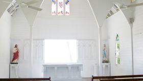 Interior, St. Mary's by the Sea church, Port Douglas, Queensland, Australia