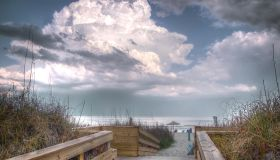 Boardwalk to sandy beach