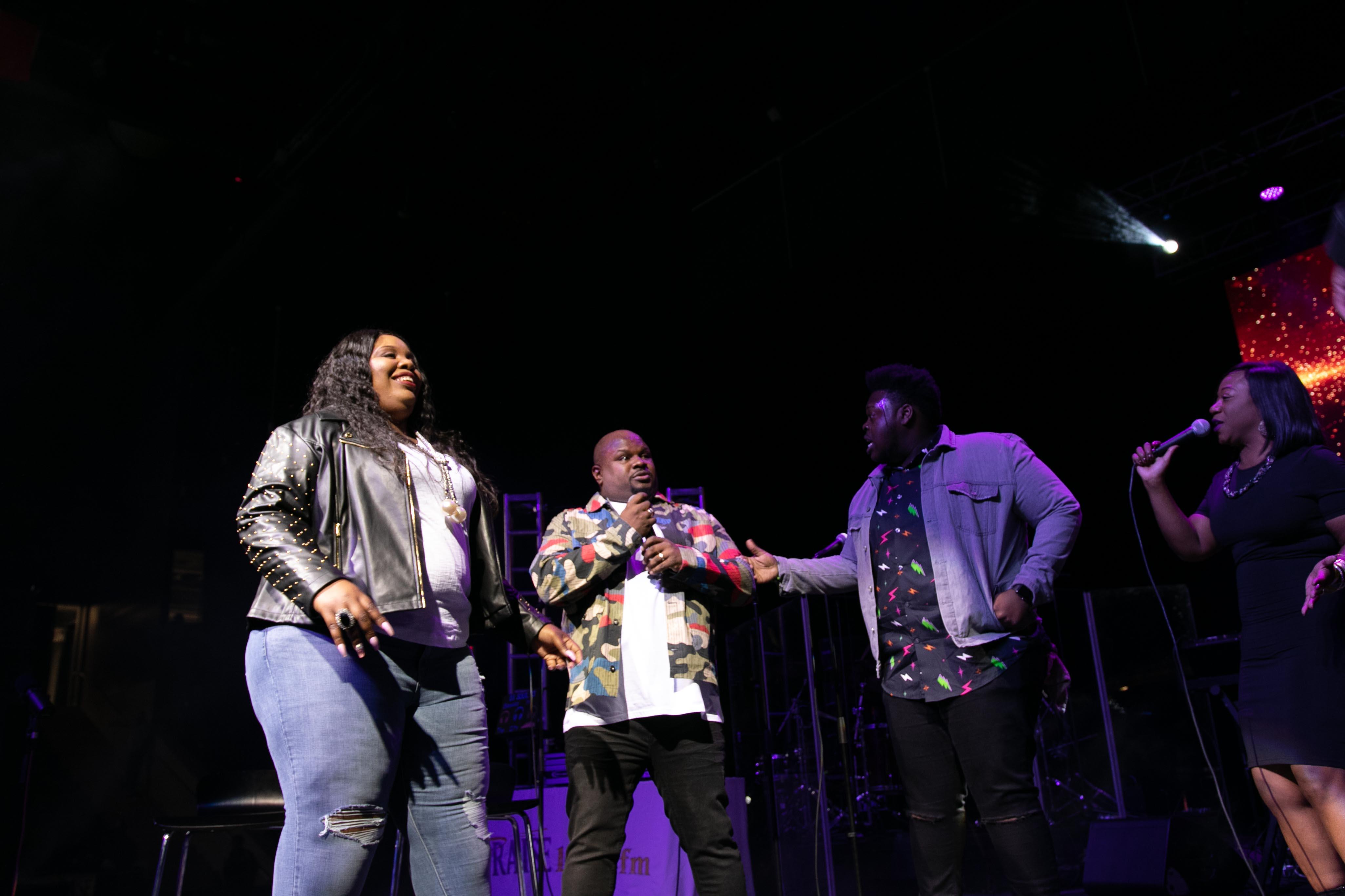 Tiffany Andrews, Melvin Crispell III & Josh Copeland At the 12th Annual Spirit Of Praise Celebration