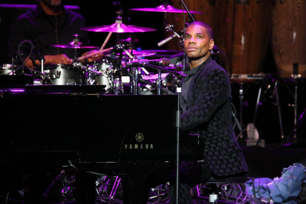 Kirk Franklin performing live on stage at The Met in Philadelphia