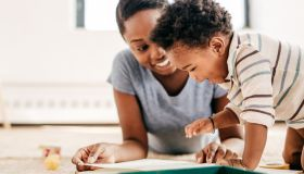 Joy of reading for toddler