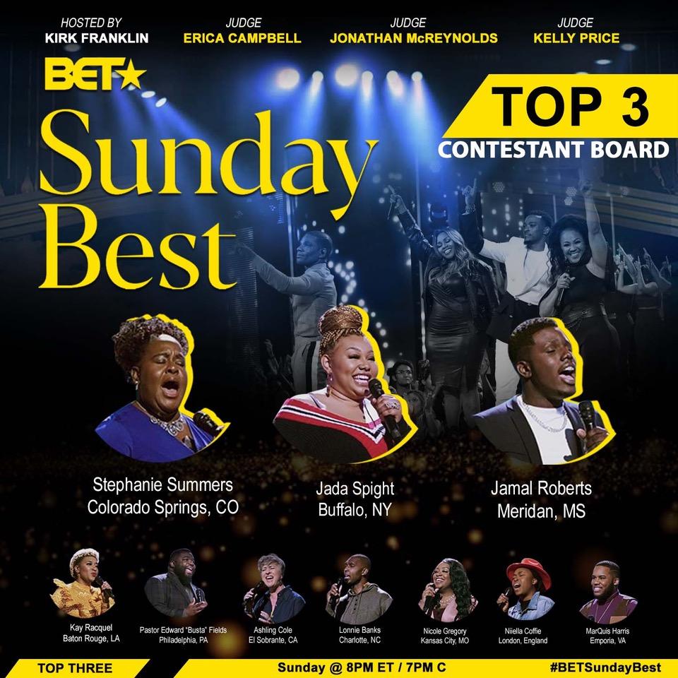 Sunday's Best Top 3