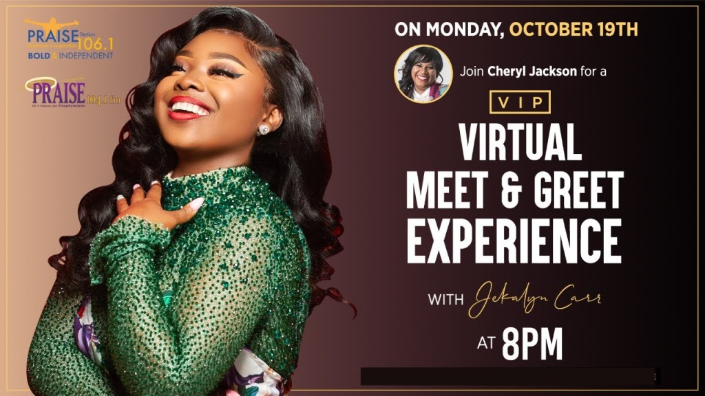 Jekalyn Carr Virtual Experience With Cheryl Jackson