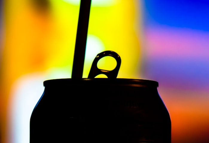 Silhoutte of a Soft Drink Can