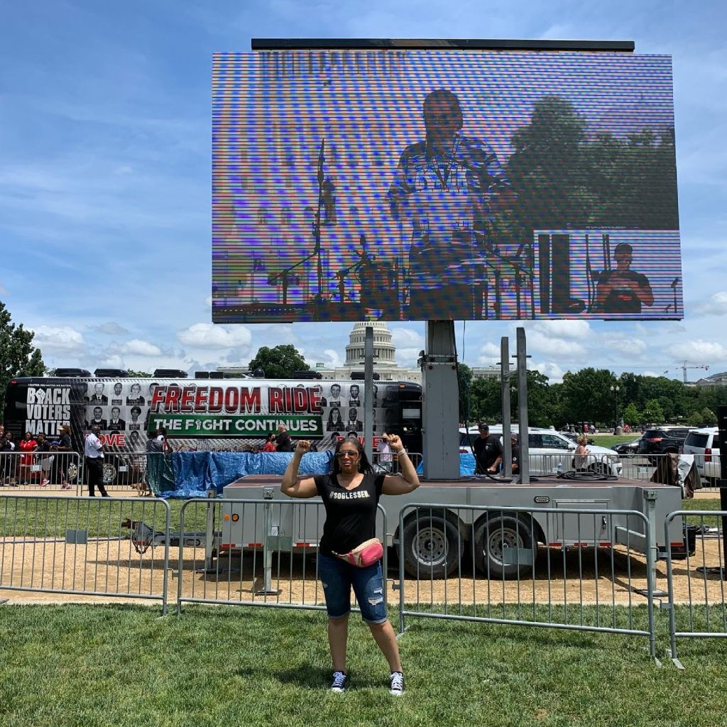 Ronnette Rollins at Black Voters Matter Freedom Ride 2021 DC